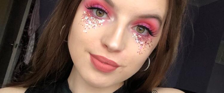 aa9bd4c0d9f Pink Glitter Princess Festival Makeup